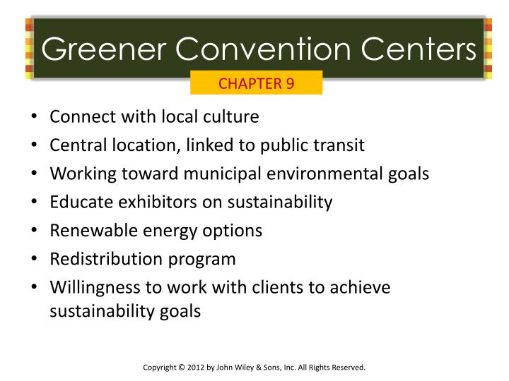 Greener Convention Centers