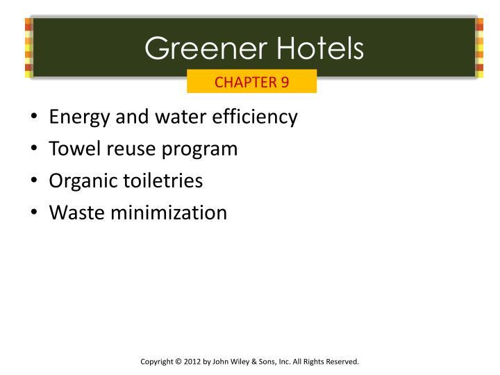 Greener Hotels
