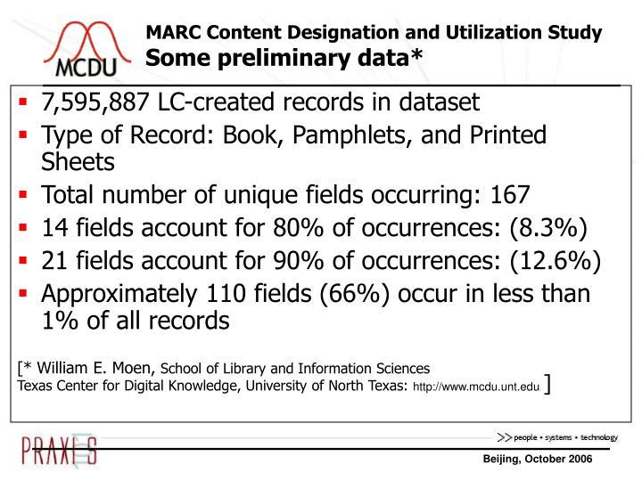 MARC Content Designation and Utilization Study