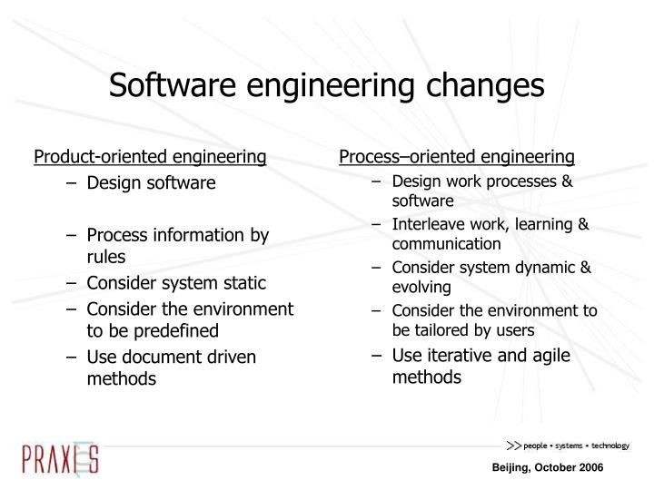 Product-oriented engineering