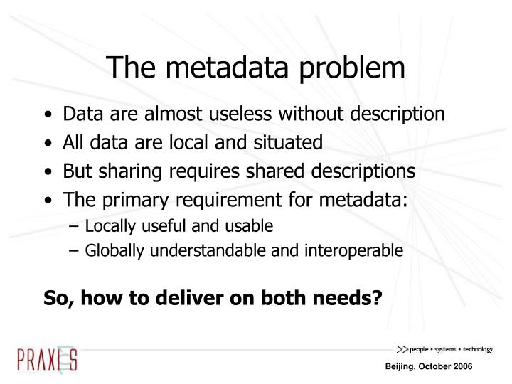 The metadata problem