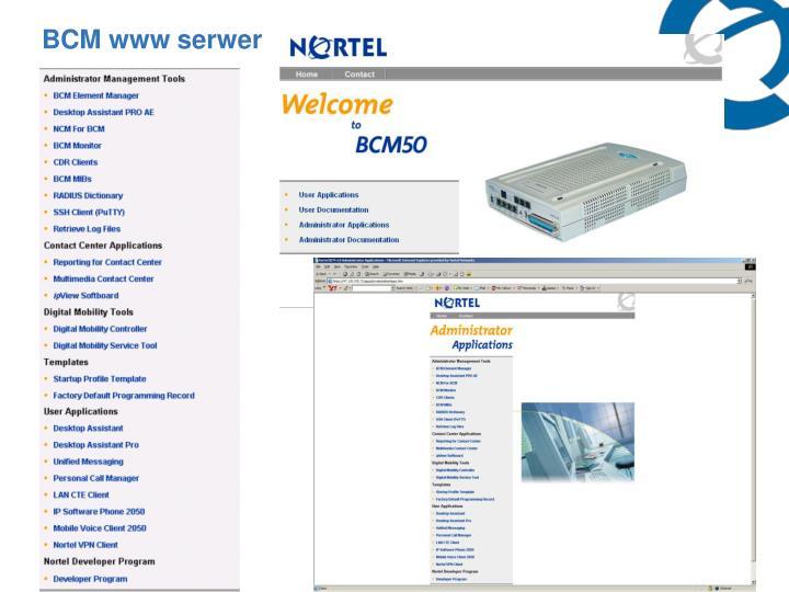 BCM www serwer
