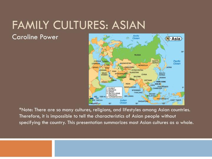 Family cultures asian