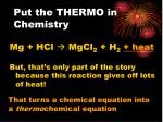 put the thermo in chemistry