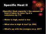 specific heat ii