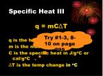 specific heat iii