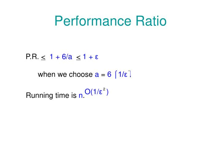 Performance Ratio