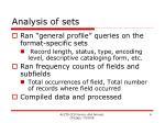 analysis of sets