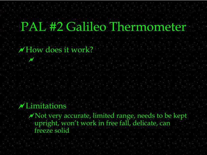 Pal 2 galileo thermometer