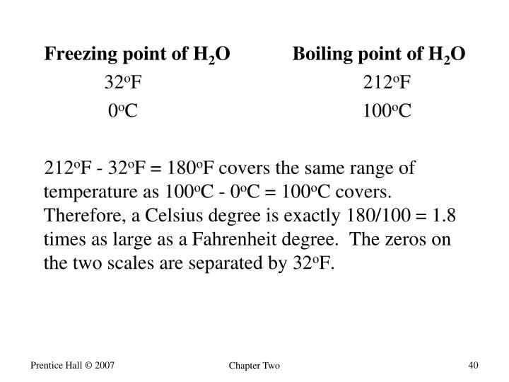 Freezing point of H