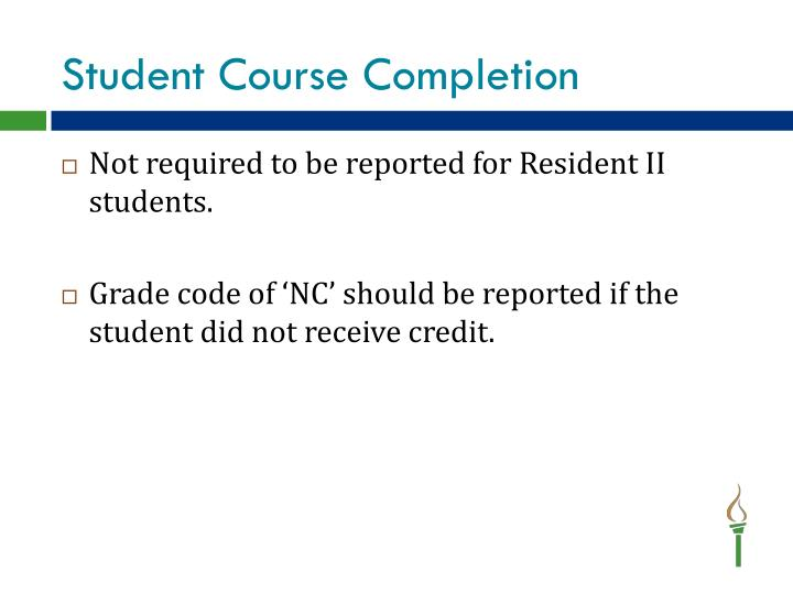 Student Course Completion