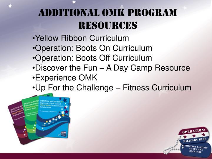 Additional OMK Program Resources