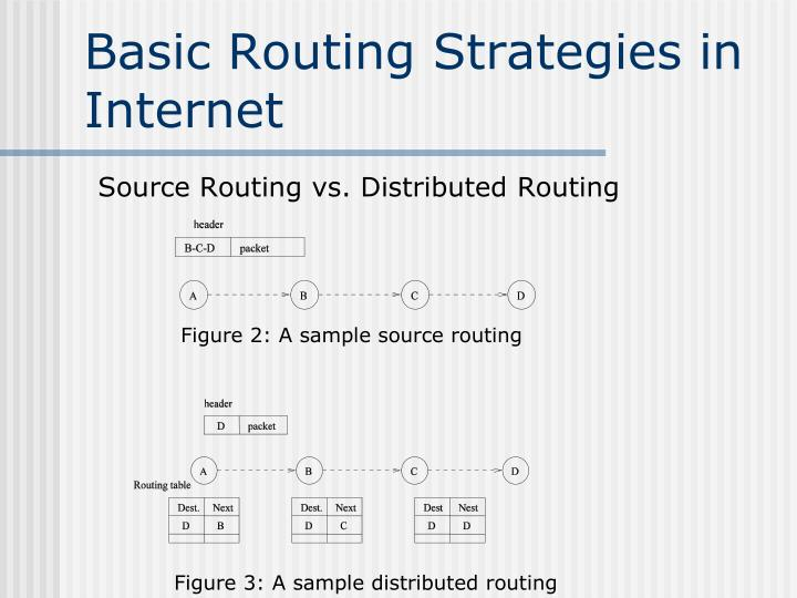 Basic Routing Strategies in Internet