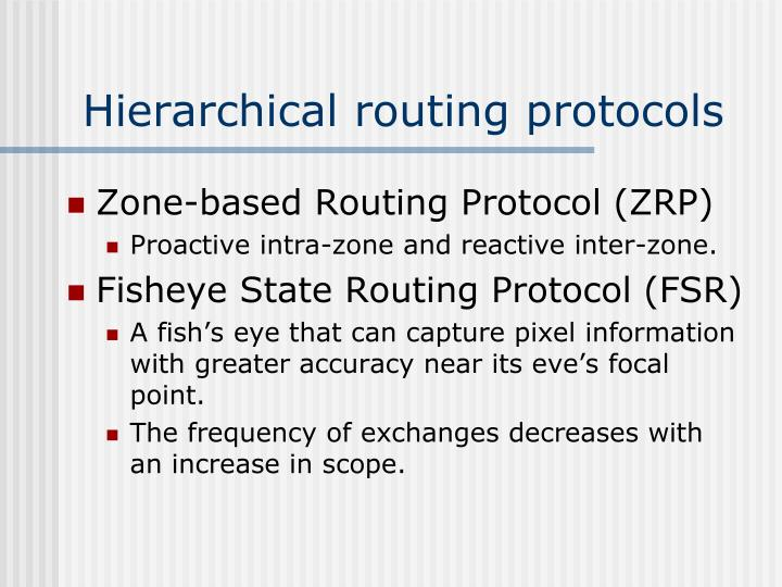 Hierarchical routing protocols
