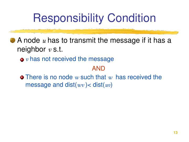 Responsibility Condition