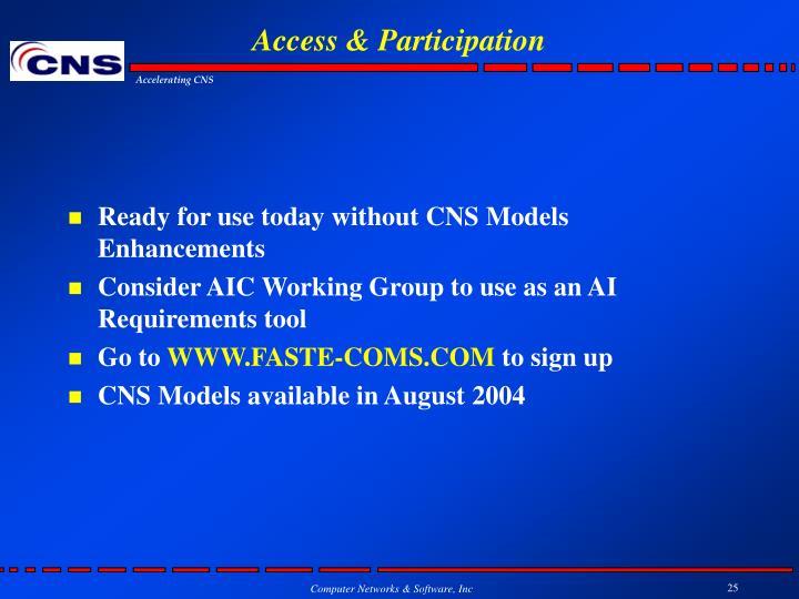 Access & Participation