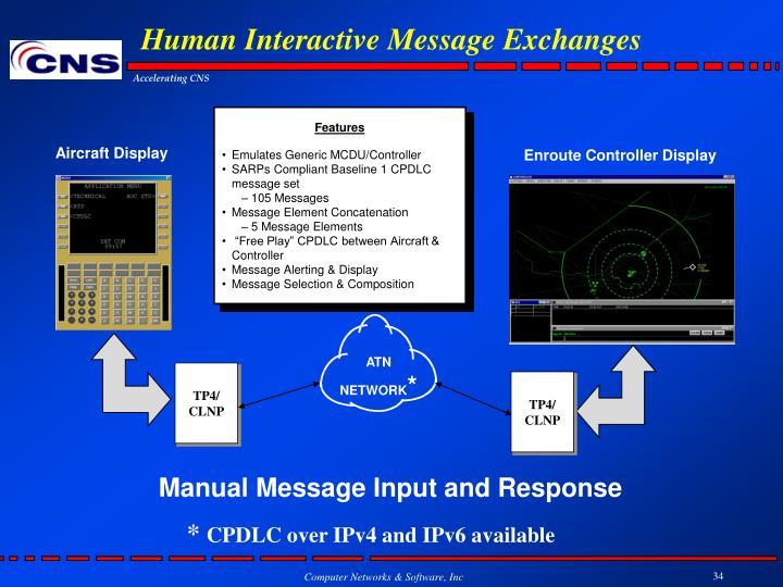 Human Interactive Message Exchanges