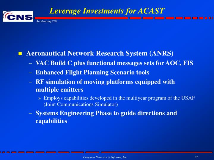 Leverage Investments for ACAST