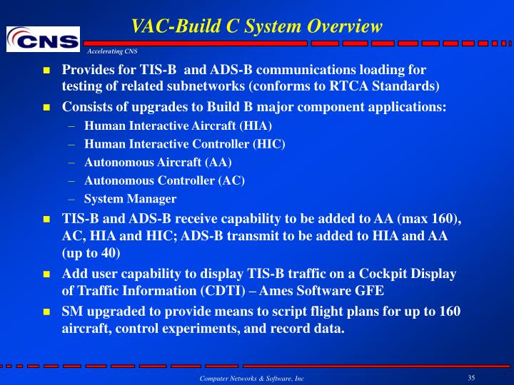VAC-Build C System Overview