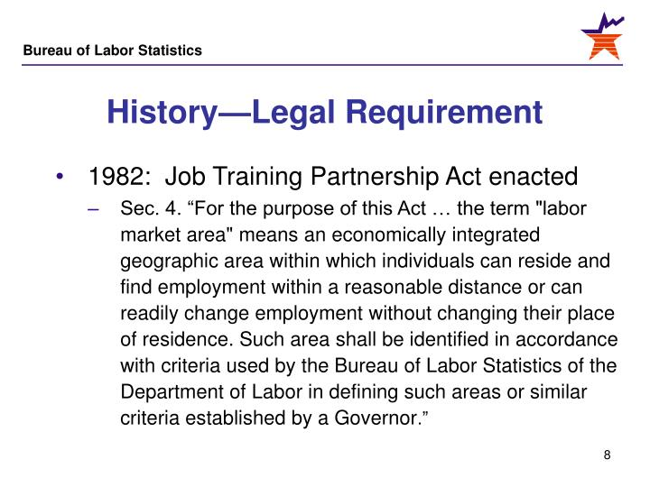 History—Legal Requirement