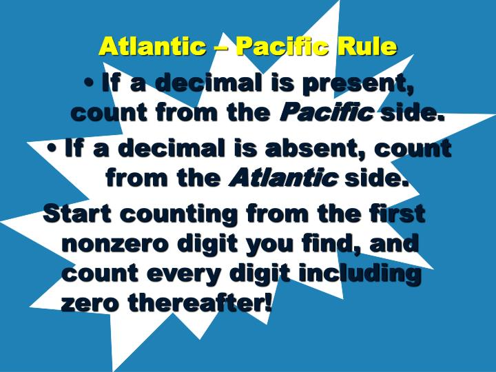 Atlantic – Pacific Rule