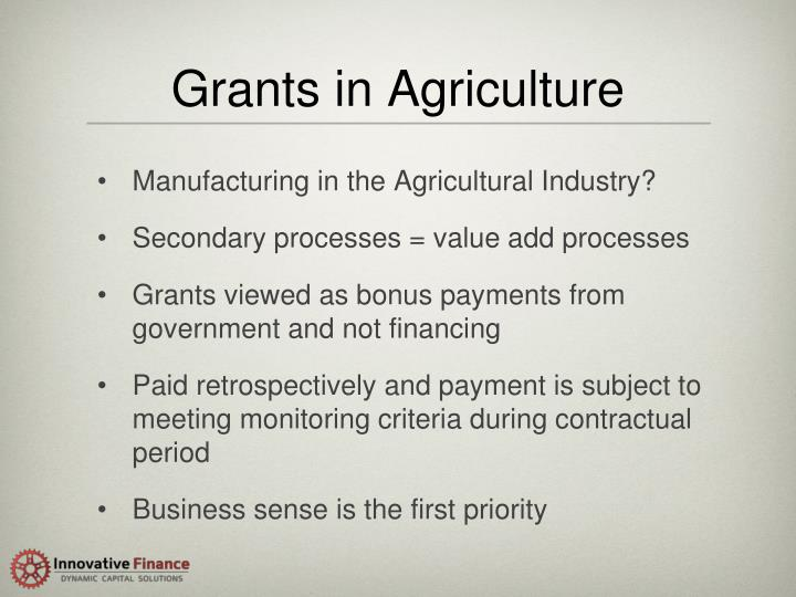 Grants in Agriculture