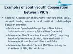examples of south south cooperation between picts