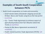 examples of south south cooperation between picts1