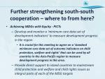 further strengthening south south cooperation where to from here1