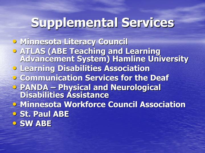 Supplemental Services