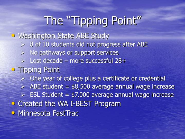 "The ""Tipping Point"""