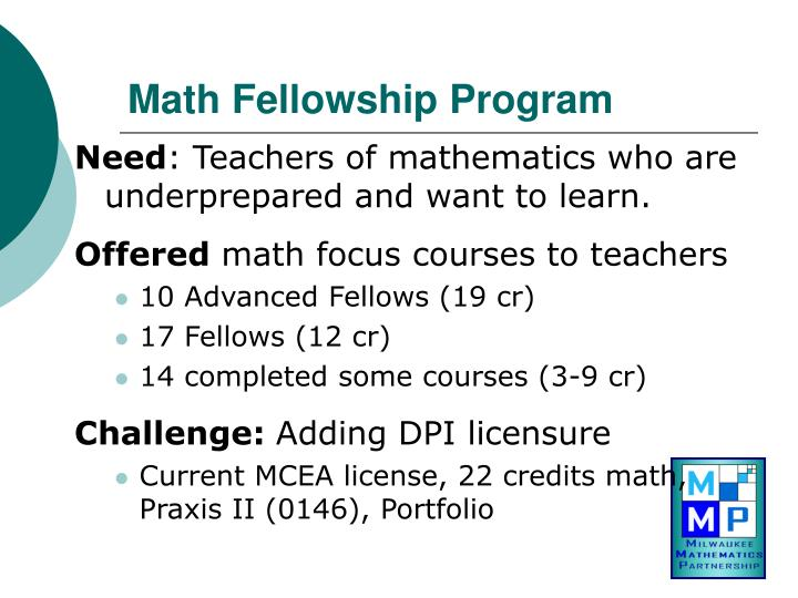 Math Fellowship Program