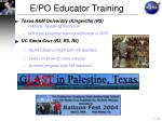 e po educator training10