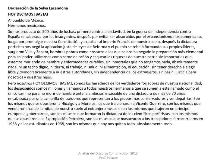 Declaración de la Selva Lacandona