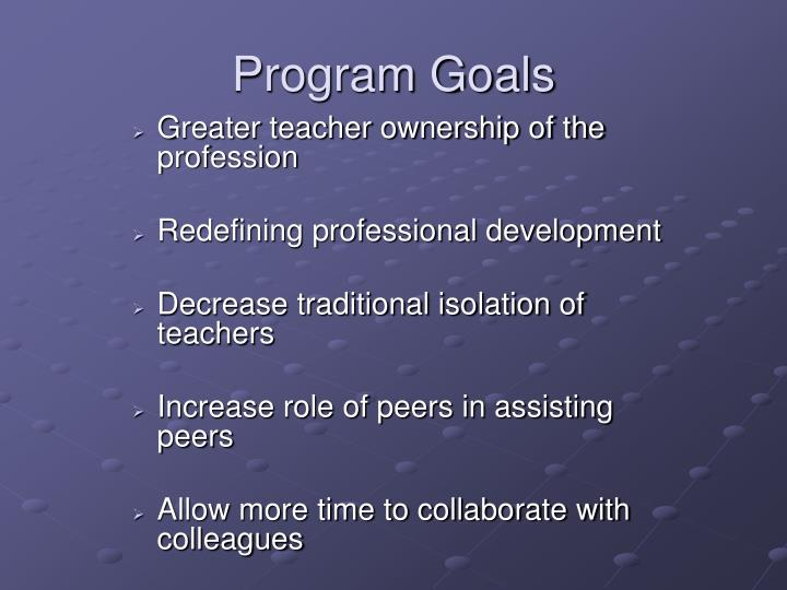 Greater teacher ownership of the profession
