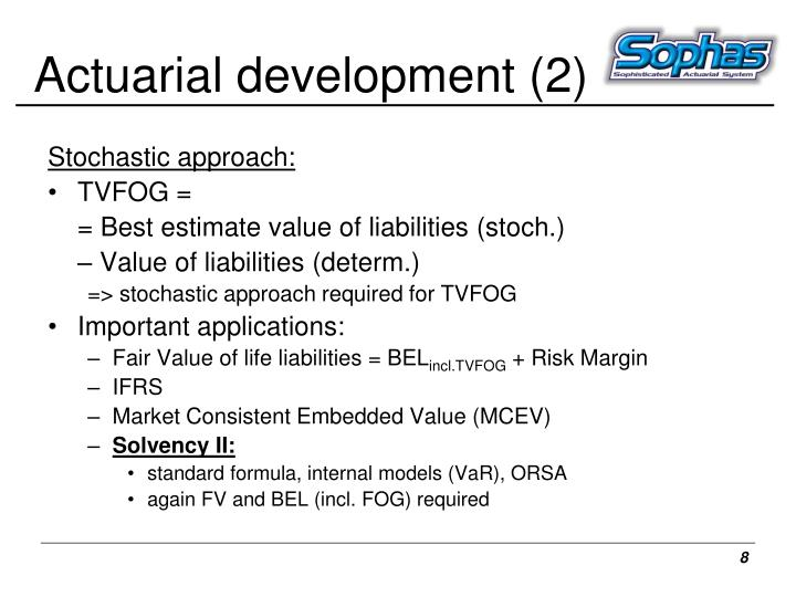 Actuarial development (