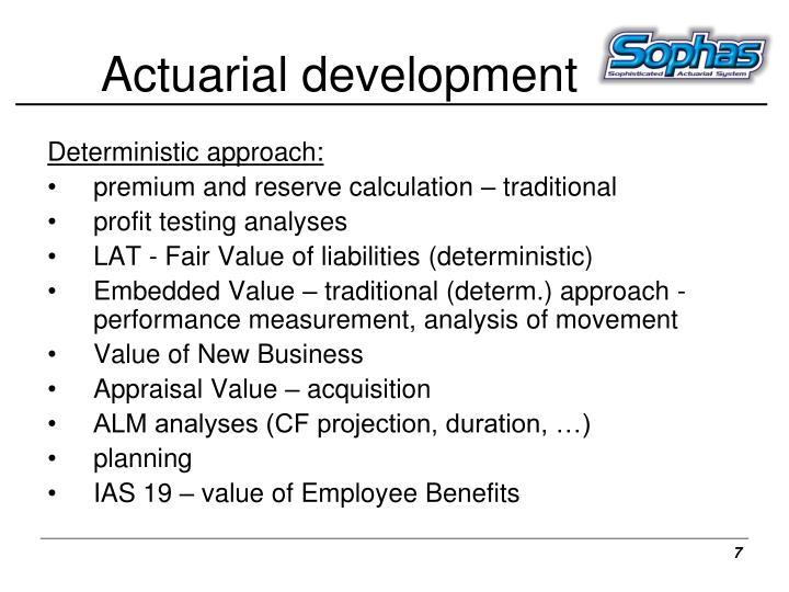 Actuarial development