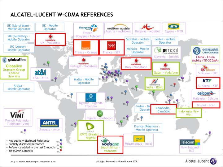 ALCATEL-LUCENT W-CDMA REFERENCES