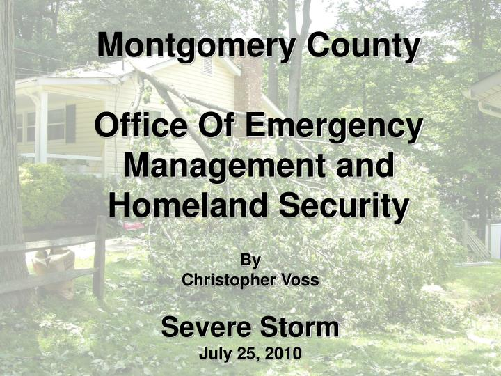 Montgomery county office of emergency management and homeland security