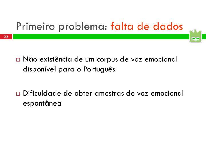 Primeiro problema:
