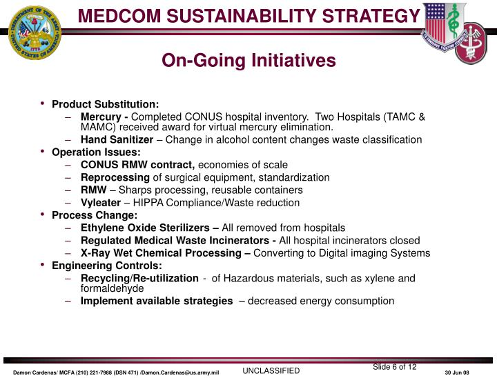 MEDCOM SUSTAINABILITY STRATEGY