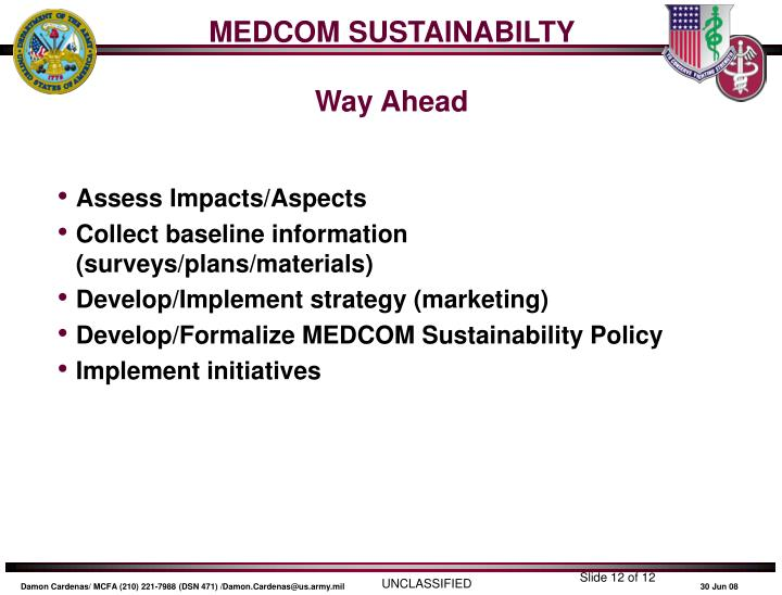 MEDCOM SUSTAINABILTY