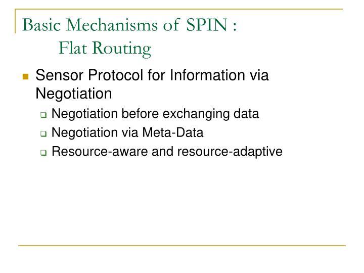Basic Mechanisms of SPIN :