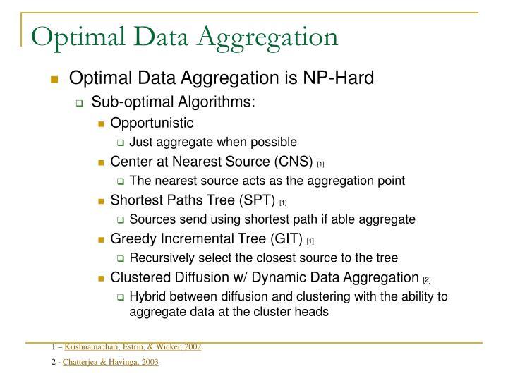 Optimal Data Aggregation