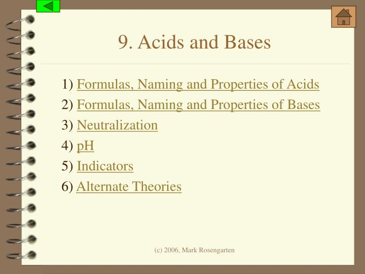 9. Acids and Bases