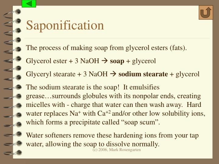 Saponification