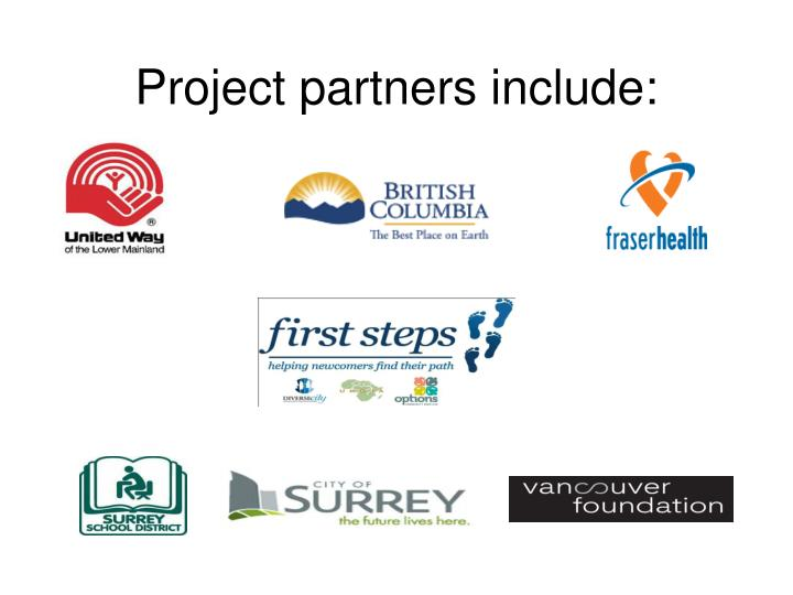 Project partners include: