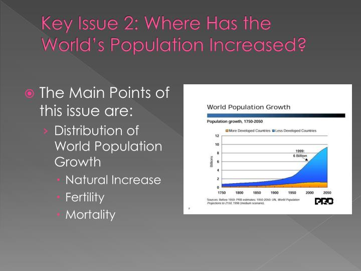 Key issue 2 where has the world s population increased
