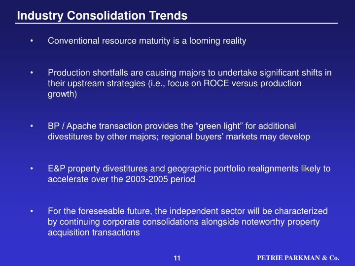 Industry Consolidation Trends