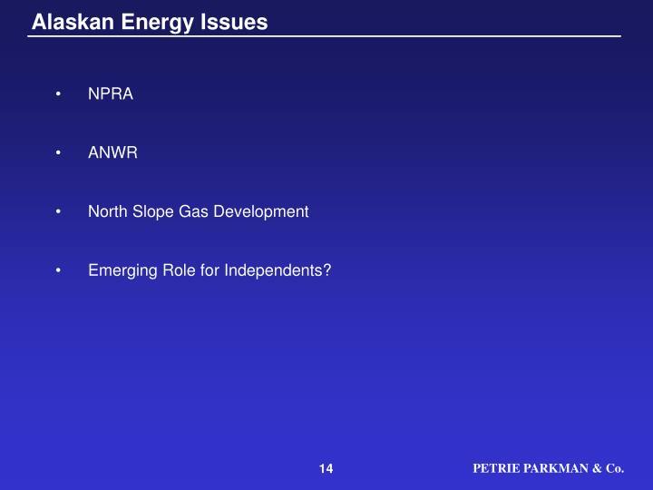 Alaskan Energy Issues